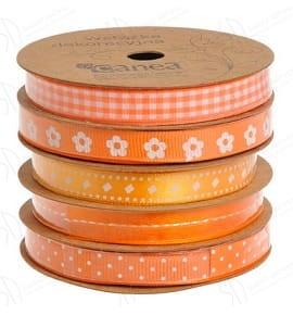 Zestaw Tasiemek Dekoracyjnych Canea Pomarańczowy