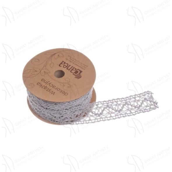 Wstążka Koronkowa Canea 2cmx10m Szara