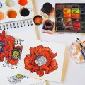 Testing-a-new-stamp.-onmycrafttable-stamping-colouring-aquarelle-ecoline-poppy-stampendous.jpg