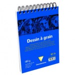 Szkicownik Dessin a Grain Clairefontaine - 180g, A5 - na spirali