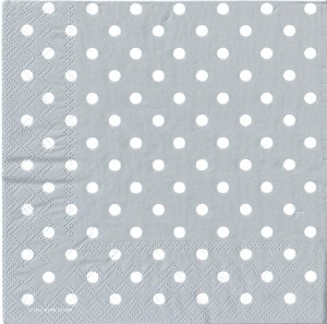 Serwetki do decoupage 33x33cm DOTS GREY