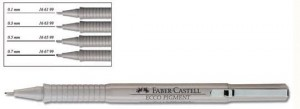 Cienkopis Faber- Castell ECCO PIGMENT czarny 0,6