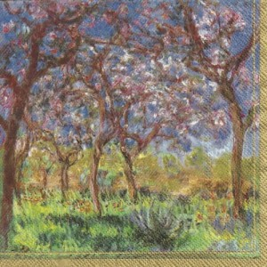 Serwetki do decoupage 33x33cm MONET: PRINTEMPS A GIVERNY