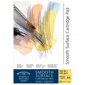 Blok rysunkowy Smooth Surface  Winsor&Newton 220g, 25k, A4*