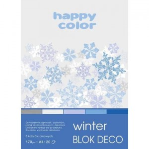 Blok do scrapbookingu Happy Color DECO 170G, 20ARK A4 - WINTER