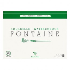 Blok do akwareli Clairefontaine Fontaine Torchon 42x56