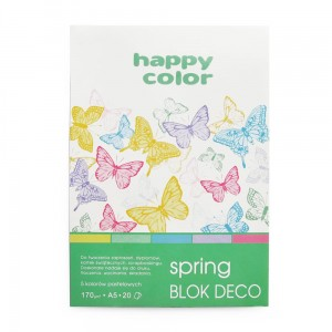 Blok do scrapbookingu Happy Color DECO 170G, 20ARK A5 - SPRING
