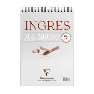 Blok do pasteli Ingres Clairefontaine - 80g, 100ark, A4 - na spirali
