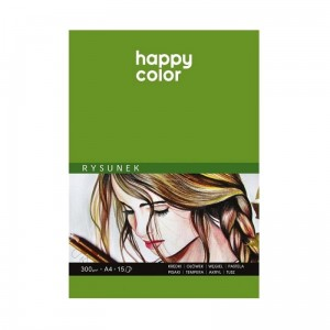 Szkicownik, blok do rysunku Happy Color - 300g, 15ark, A3