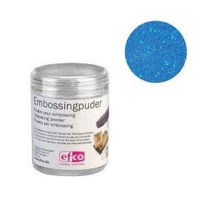 Puder do embossingu Efco 10g - NIEBIESKI BROKAT*