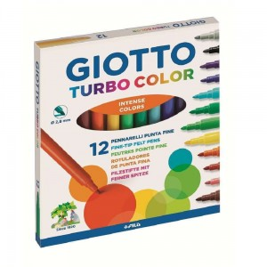Flamastry Giotto Turbo Color - zestaw 12 szt.