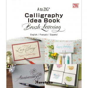 Blok do nauki kaligrafii KURETAKE Calligraphy Idea Book Brush Lettering