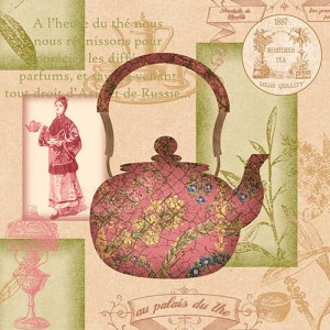 Serwetki do decoupage 33x33cm ASIA TEA