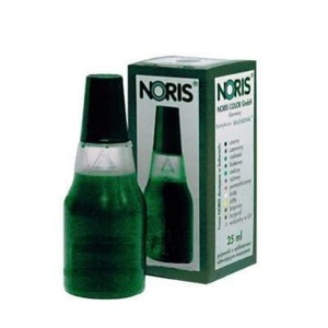 Tusz do stempli - bezolejowy NORIS 25ml  - ZIELONY