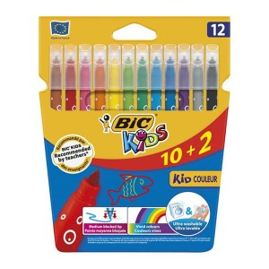 Flamastry Bic Kid Couleur  10 kol. + 2 kol.