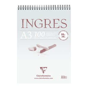 Blok do pasteli Ingres Clairefontaine - 80g, 100ark, A3 - na spirali