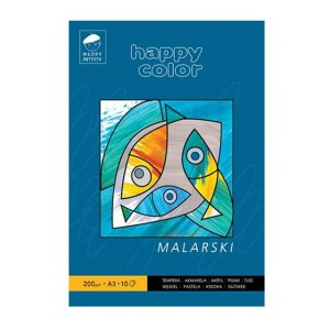 Blok malarski Happy Color - 200g, 10ark, A3