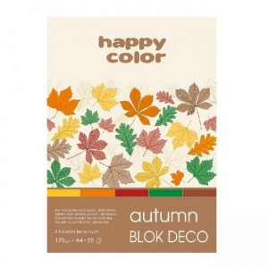 Blok do scrapbookingu Happy Color DECO A5 170G, 20ARK - AUTUMN