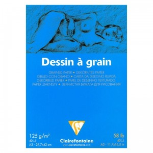 Szkicownik ziarnisty Dessin a Grain Clairefontaine - 125g, 40ark, A3