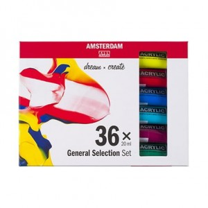 Zestaw farb akrylowych Talens AMSTERDAM General Selection Set - 36x20ml