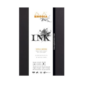 Blok INK Rhodia Touch CALLIGRAPHER PAD - 130g, 50ark, A4