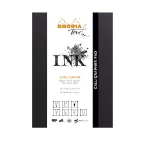 Blok INK Rhodia Touch CALLIGRAPHER PAD - 130g, 50ark, A5