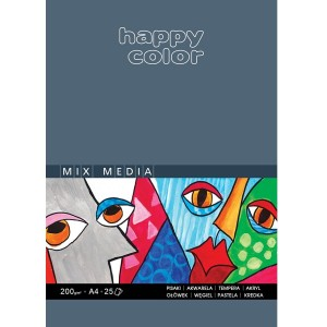 Blok Mix Media Happy Color - 200g, 25ark. A5