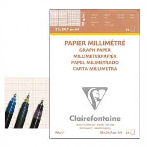 Blok milimetrowy Clairefontaine - 90g, 50ark, A3 *