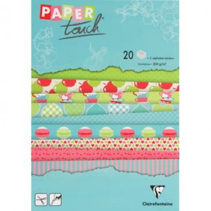 Blok papierów do scrapbookingu Clairefontaine Papier Touch 21x29,7cm - zestaw Children Memories