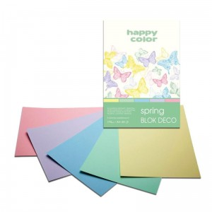 Blok do scrapbookingu Happy Color DECO 170G, 20ARK A4 - SPRING