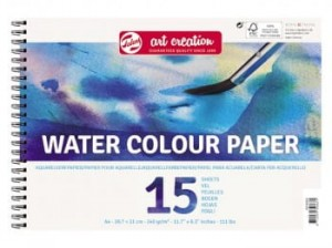 Blok do akwareli WATER COLOUR PAPER Talens ArtCreation - 240g, 29,7x21cm