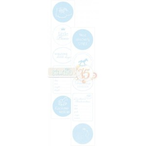 Papier do scrapbookingu Studio75  - pasek Primo blue 06