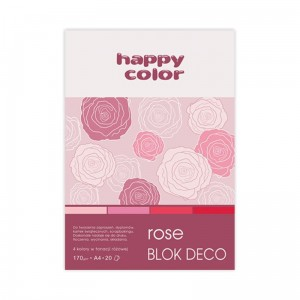 Blok do scrapbookingu Happy Color DECO - 170g, 20ark, A4 - różowy