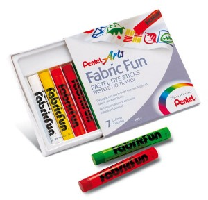 Pastele do tkanin PENTEL Fabric Fun 7 kol.