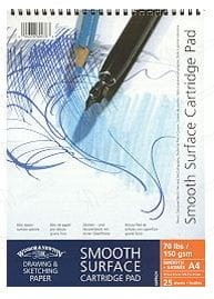 Blok rysunkowy Smooth Surface Winsor&Newton - 150g, 25k, A4 spirala