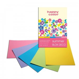 Blok do scrapbookingu Happy Color DECO 170G, 20ARK A4 - SUMMER