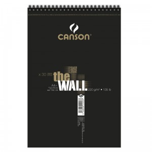 Blok do markerów Canson The Wall - 220g, 30ark, A3, na spirali