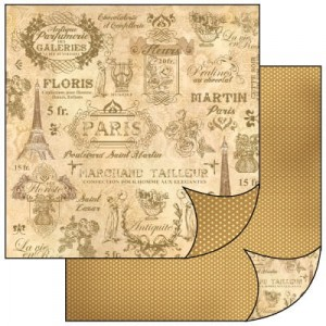 Papier Stamperia ScrapArt do scrapbookingu PARIS 2
