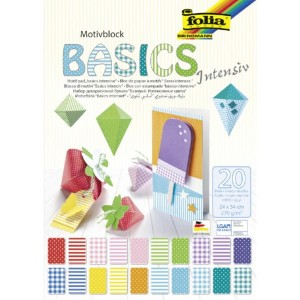 Blok papierów do scrapbookingu Motivblock 24x34cm BASICS Intensiv