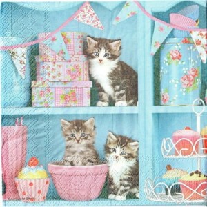 Serwetki do decoupage 33x33cm CATS IN THE KITCHEN