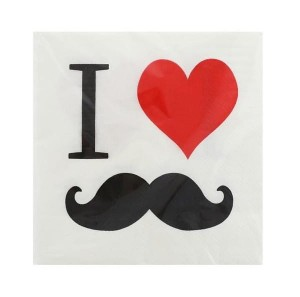 Serwetki do decoupage 33x33cm I LOVE MUSTACHE