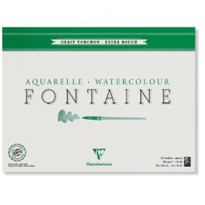 Blok do akwareli Clairefontaine Fontaine Torchon 24x30