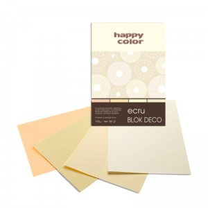 Blok do scrapbookingu Happy Color DECO - 170g, 20ark, A5 - ecru