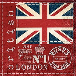 Serwetki do decoupage 33x33cm BRITISH FLAG