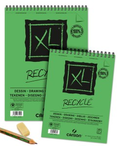 Blok rysunkowy Canson XL Recycled - 160g, 50ark, A3, na spirali
