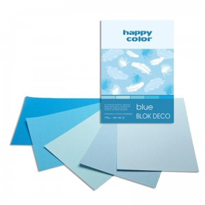 Blok do scrapbookingu Happy Color DECO 170G, 20ARK A4 - niebieski
