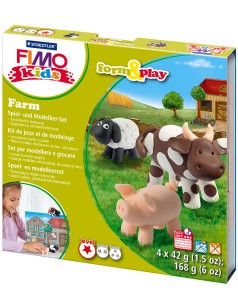 Zestaw Fimo Kids Form&Play FARMA