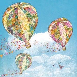 Serwetki do decoupage 33x33cm HOT AIR BALLOONS