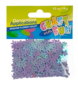 Cekiny kwiatuszki Craft with Fun - 14g, fioletowe