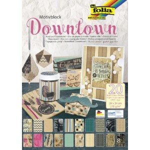 Blok papierów do scrapbookingu Motivblock 24x34cm DOWNTOWN